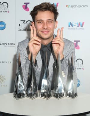 Flume with his five Aria awards