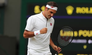 Roger Federer is hoping to win Wimbledon for the ninth time this year and next faces Matteo Berrettini.