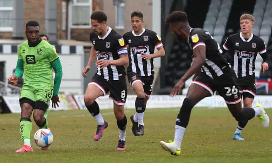 Grimsby Town v Port Vale at Blundell Park, 30 Apr 2021.