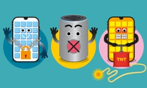 illustration by james melaugh of smart devices secured