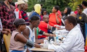 Launch of the Ebola vaccination campaign in Rubavu, Western Province, Rwanda.