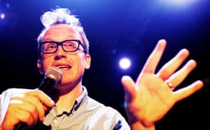 Chris Gethard on stage at at the Edinburgh fringe.