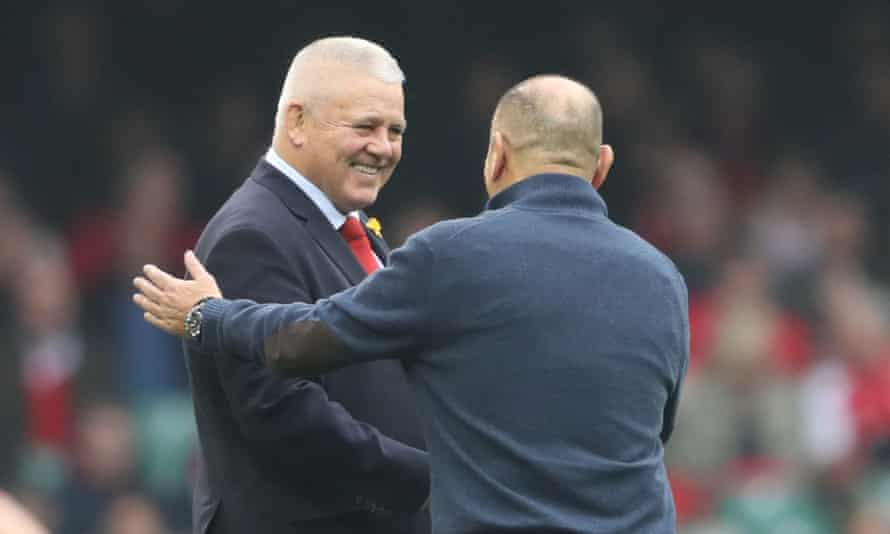 Warren Gatland and Eddie Jones in 2019; the England coach had hoped for about 20 of his squad to go to South Africa with the Lions.