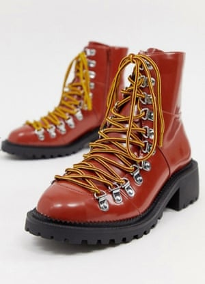 Asos Ablaze chunky hiker boots, £40.