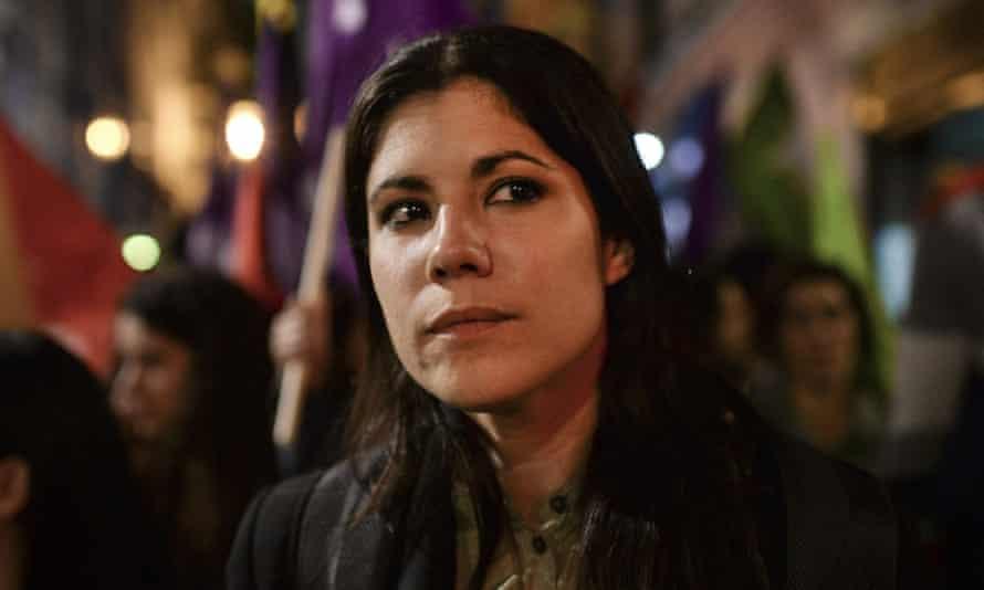Mariana Mortagua campaigns in Lisbon.