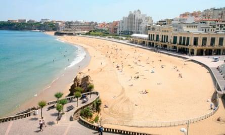 Casino beach in Biarritz, Pyrenees Atlantique, France, Europe
