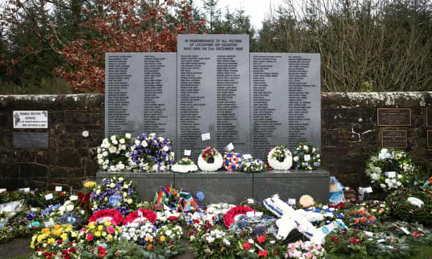 The Memorial Garden in Dryfesdale cemetery on the 30th anniversary of the bombing of Pan Am flight 103 which exploded over the Scottish town of Lockerbie on 21 December 1988.