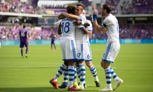 Montreal Impact celebrate during a recent win over Orlando City. The Canadian side are used to playing in another country.