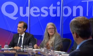 Mary Beard on Question Time.
