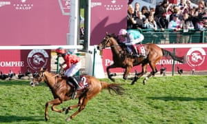 Waldgeist gets up ahead of Enable to win the Arc.
