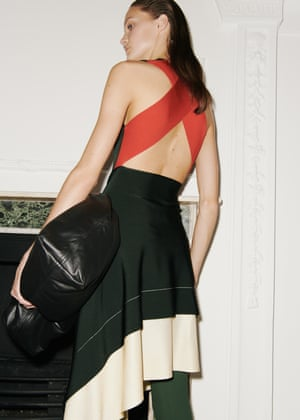 The masculine/feminine theme continued with dresses worn over trousers.