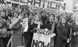 Women's liberation march, London, March 1971.
