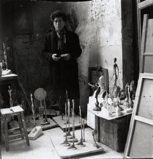 Giacometti in the studio in 1951.