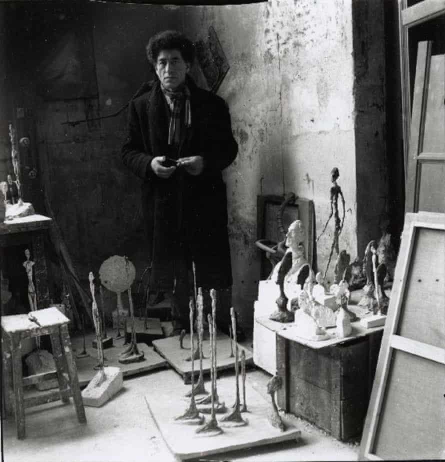 Giacometti in the studio in 1951.
