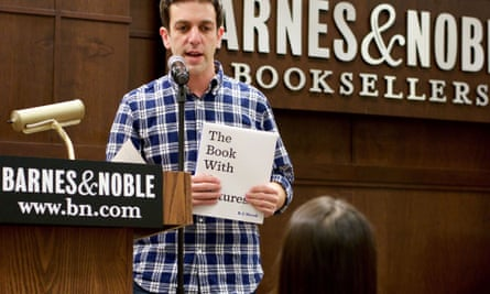 BJ Novak reading from his latest book in New York.
