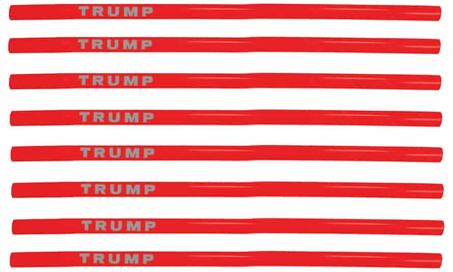 Ten-packs of the plastic straw are being sold for $15 on Trump's official online store