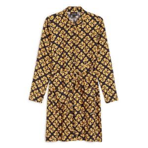 Floral long-sleeved dress