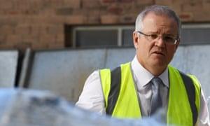 Scott Morrison visits a steel manufacturing business in Sydney.