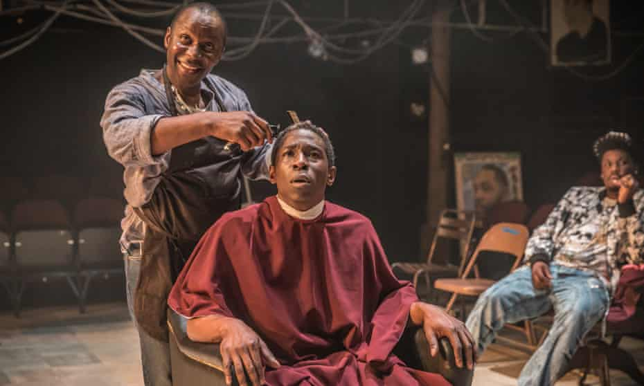 … Cyril Nri and Abdul Salis in Barber Shop Chronicles.