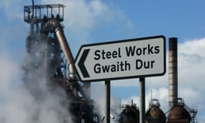 The Tata Steel steel plant at Port Talbot, south Wales.