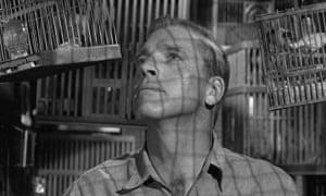 A still from The Birdman of Alcatraz. Robert Stroud, the real Birdman, made himself an expert of ornithology while imprisoned.
