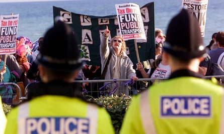 A Socialist Workers party demonstration outside the Labour party conference in Brighton in 2000