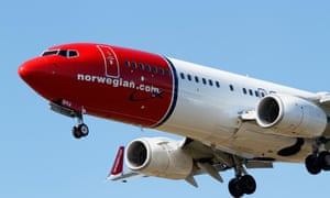 A Norwegian Airlines Boeing 737. The country's short-haul airliners are set to be entirely electric by 2040.