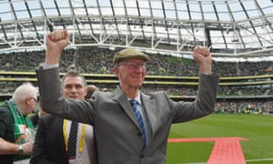 Jack waves to fans before the international friendly match between Ireland and England at Dublin's Aviva Stadium in June 2015