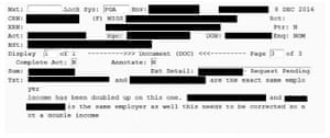 Staff logs show Centrelink's automated system is erroneously duplicating employers.