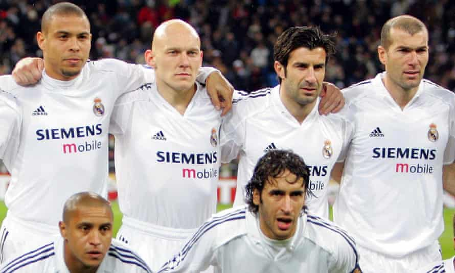 Real Madrid started three Ballon d'Or winners – Ronaldo, Luis Figo and Zinedine Zidane – in their 2005 game against Juventus, and brought Michael Owen on as a substitute.
