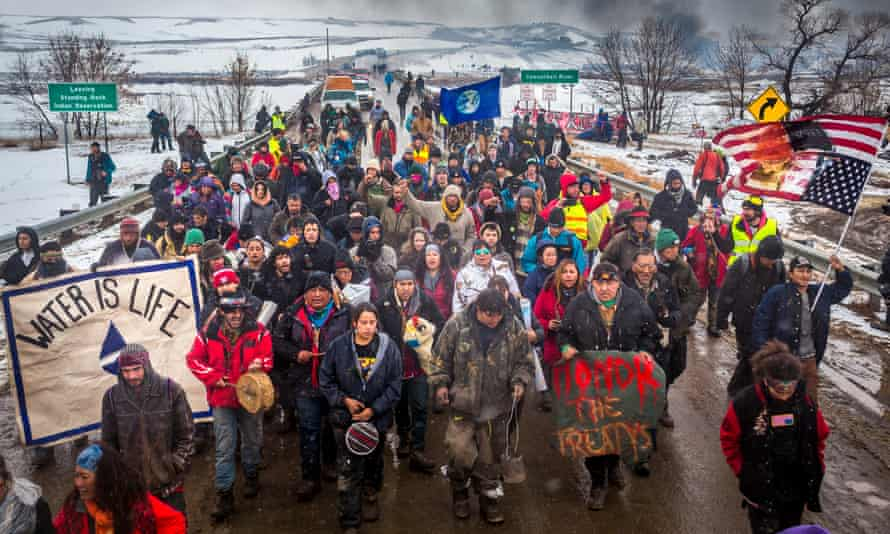 Dakota Access pipeline protesters in North Dakota, February 2017