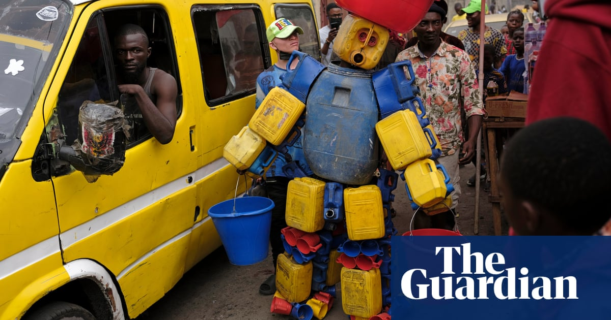 'They call us bewitched': the DRC performers turning trash into art – photo essay