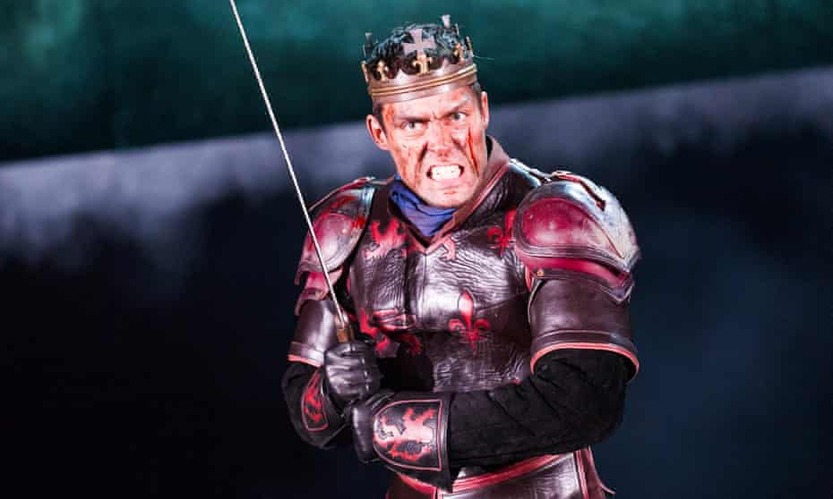 The full monty … Alex Hassell in Henry V.