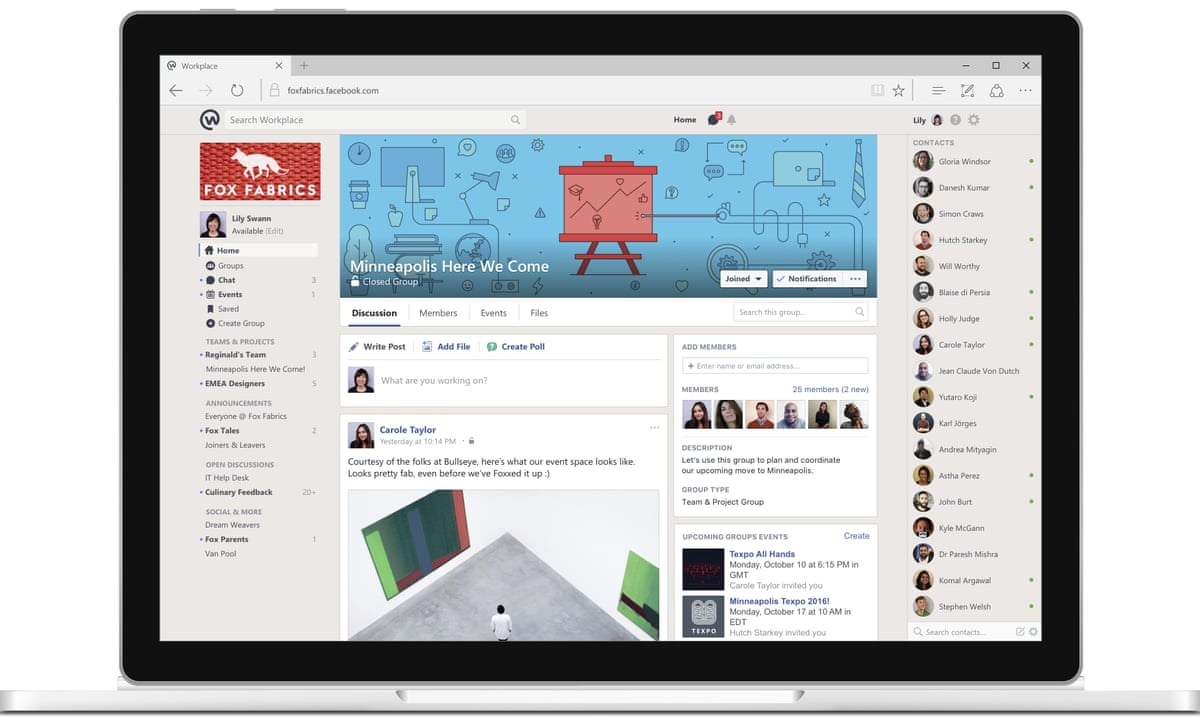 slack alternatives - workplace by facebook