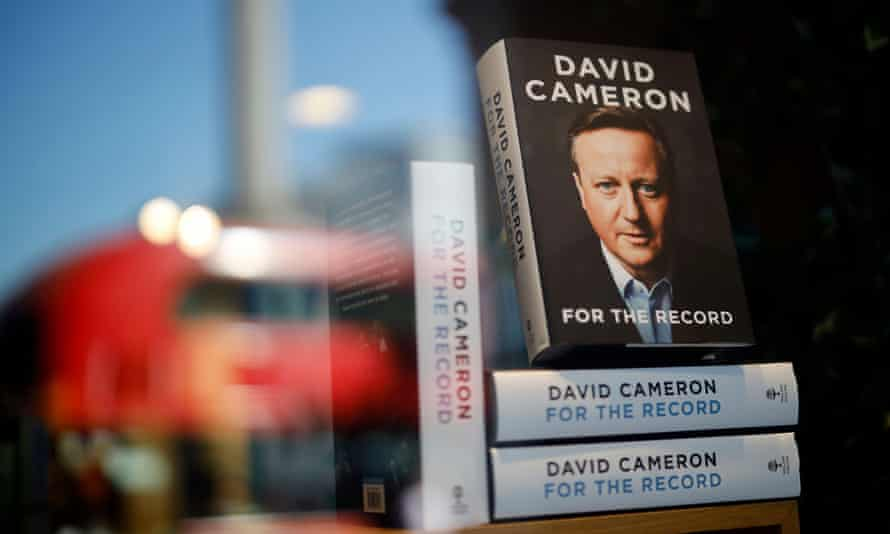 'Hardly any reference to tennis whatsoever' ... David Cameron's autobiography.