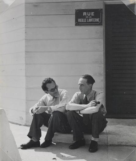 Man Ray with Duchamp, 1948