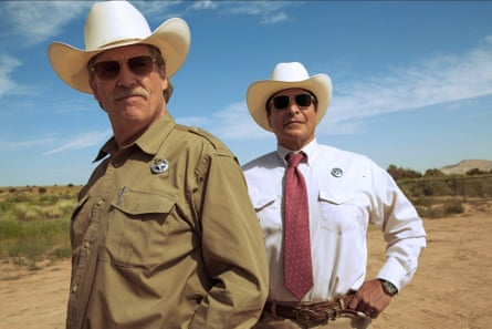 Jeff Bridges as the lawman, with Gil Birmingham as his sidekick, in Hell or High Water.