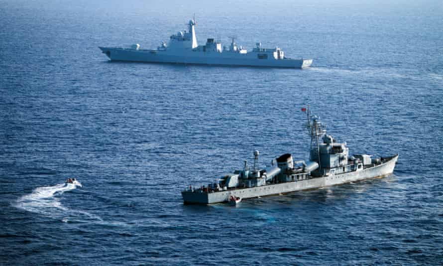 Chinese ships taking part in military drill in the Xisha Islands. Beijing claims sovereignty over almost the whole of the South China Sea, pitting it against several neighbours.