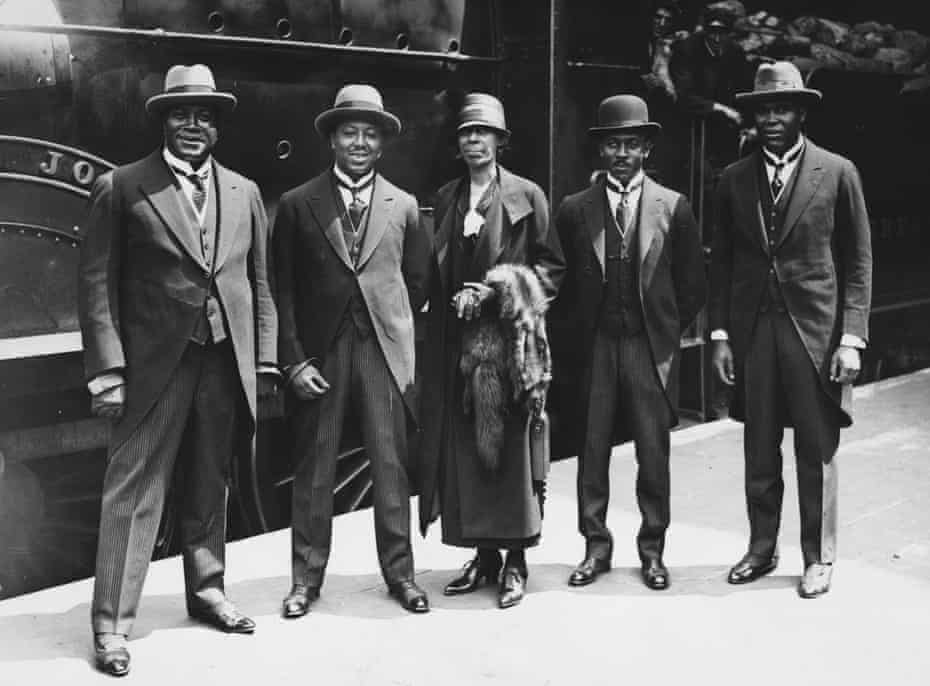 The Fisk University Jubilee Singers on their way to Windsor Castle to sing for the King and Queen in 1925.