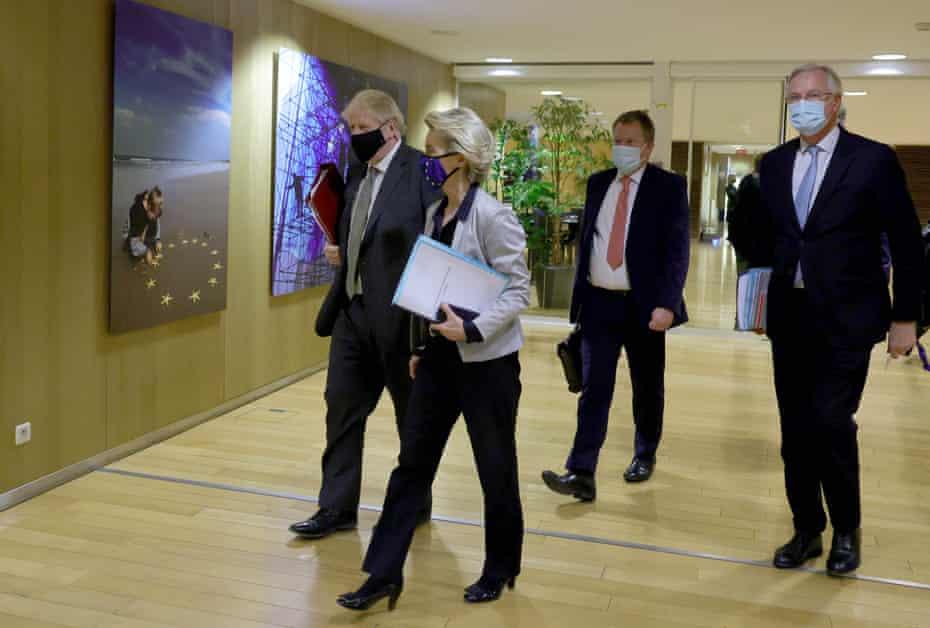 Boris Johnson meets with Ursula von Der Leyen in Brussels 9 December.