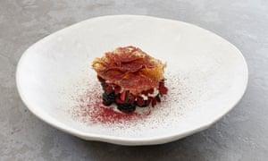 'Crunchy sugarwork': wild blackberries.