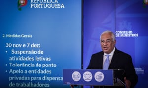 Antonio Costa presents the conclusions of the meeting of the Council of Ministers in Lisbon.