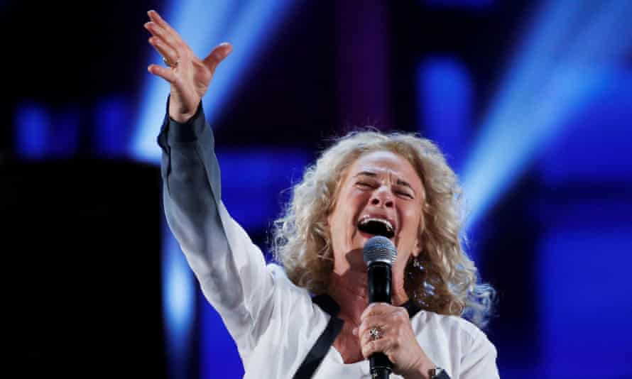 Timeless class … Carole King performing in 2014.