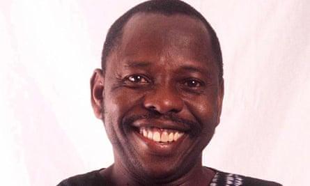 The British artwork memorial to Ken Saro-Wiwa being held in Lagos.