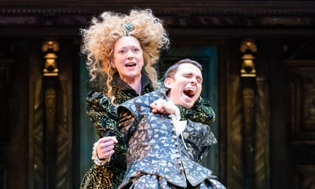 'My goods' … Claire Price as Petruchia and Joseph Arkley as Katherine in the RSC's Taming of the Shrew.