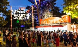 Festivalgoers enter Adelaide's Garden of Unearthly Delights.