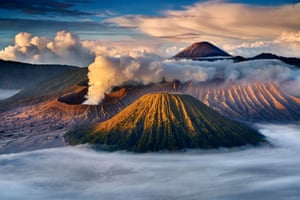2nd place, Myanmar National Award winner: Kyaw Win HlaingBeauty of Mount Bromo'Mount Bromo is an active volcano, in the Tengger massif in East Java, Indonesia. The name Bromo derives from the Javanese pronunciation of Brahma, the Hindu creator god.'