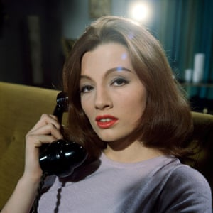 Christine Keeler during a secret screen test for the movie The Christine Keeler Story, in 1963.