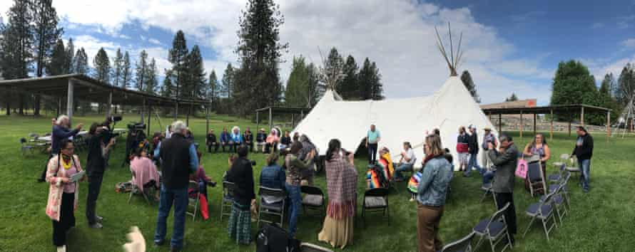 Tribes sign the treaty to commit to bison repopulation and conservation in Polson, Montana