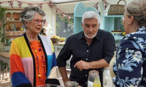 Paul and Prue grill Laura in the Bake Off final.